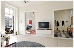 Дизайн квартиры в скандинавском стиле с террасой