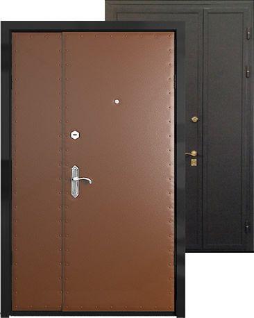 металлические двери для дачи с двусторонним порошковым покрытием